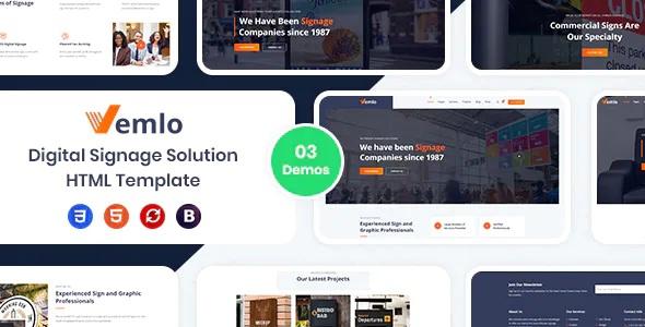 Best Digital Signage Services HTML Template