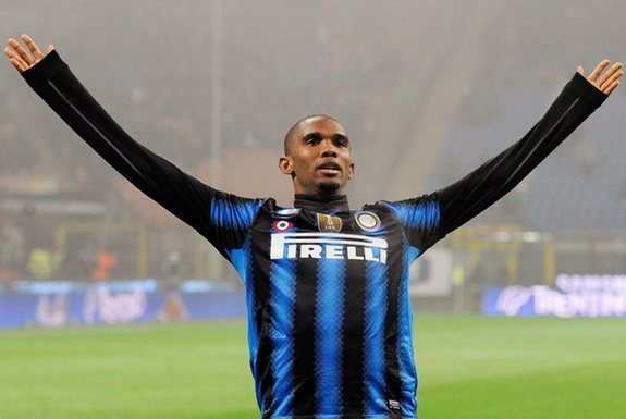 Samuel Eto'o played for Inter Milan between 2009 and 2011