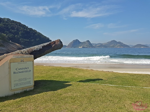Praia de Fora na Fortaleza São José na Urca