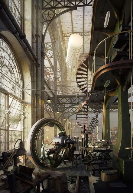 Old Steampunk Engine House by Robert Filip