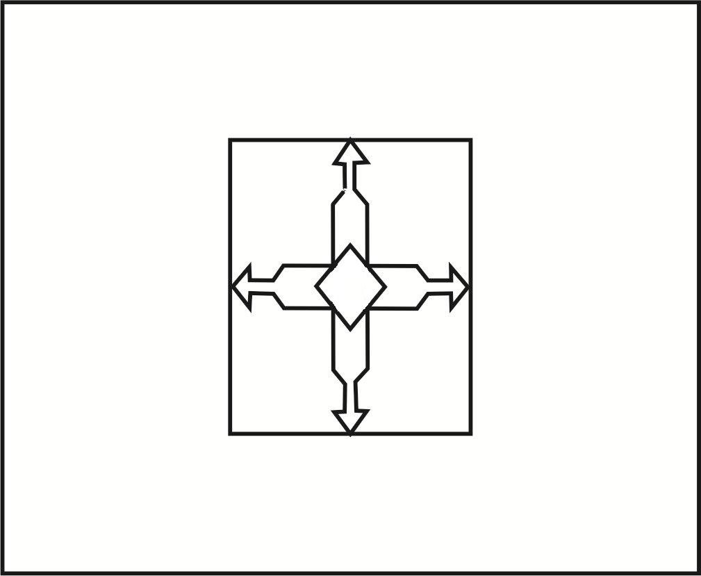 Bandeira do Distrito Federal (Brasil) para imprimir e colorir
