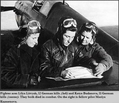 Lilya Litvyak, Katya Budanova, Mariya Kuznetsova, Segunda Guerra Mundial, Bruxas da Noite, Nazismo