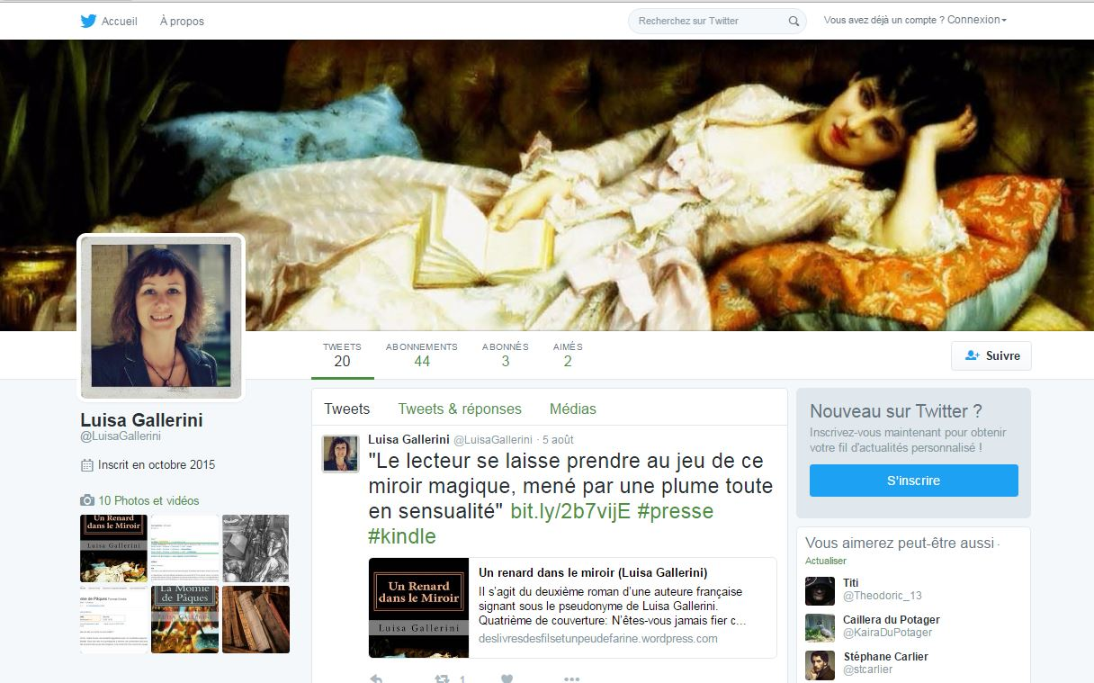 Suivez Luisa Gallerini sur Twitter