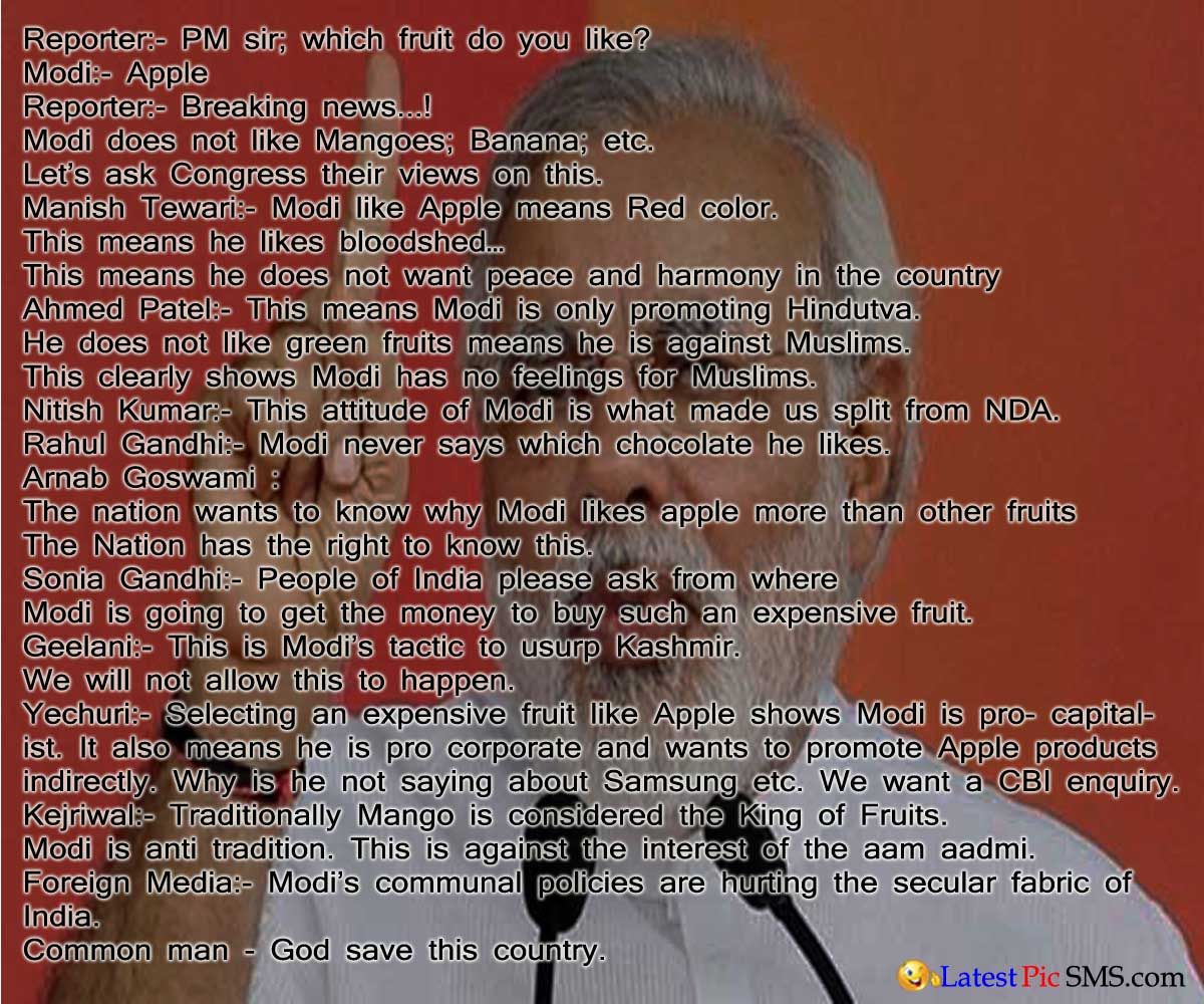 Pm Modi  with tv news reporter quotes