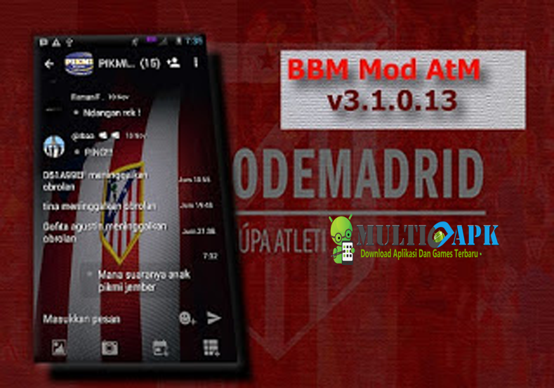 Download BBM Mod Atletico Madrid Theme v3.1.0.13 Multiapk Terbaru 2016