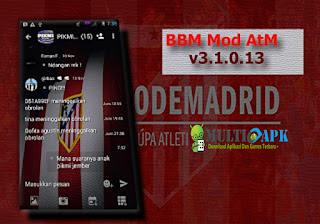 Download BBM Mod Atletico Madrid Theme v3.1.0.13 Multiapk Terbaru 2016