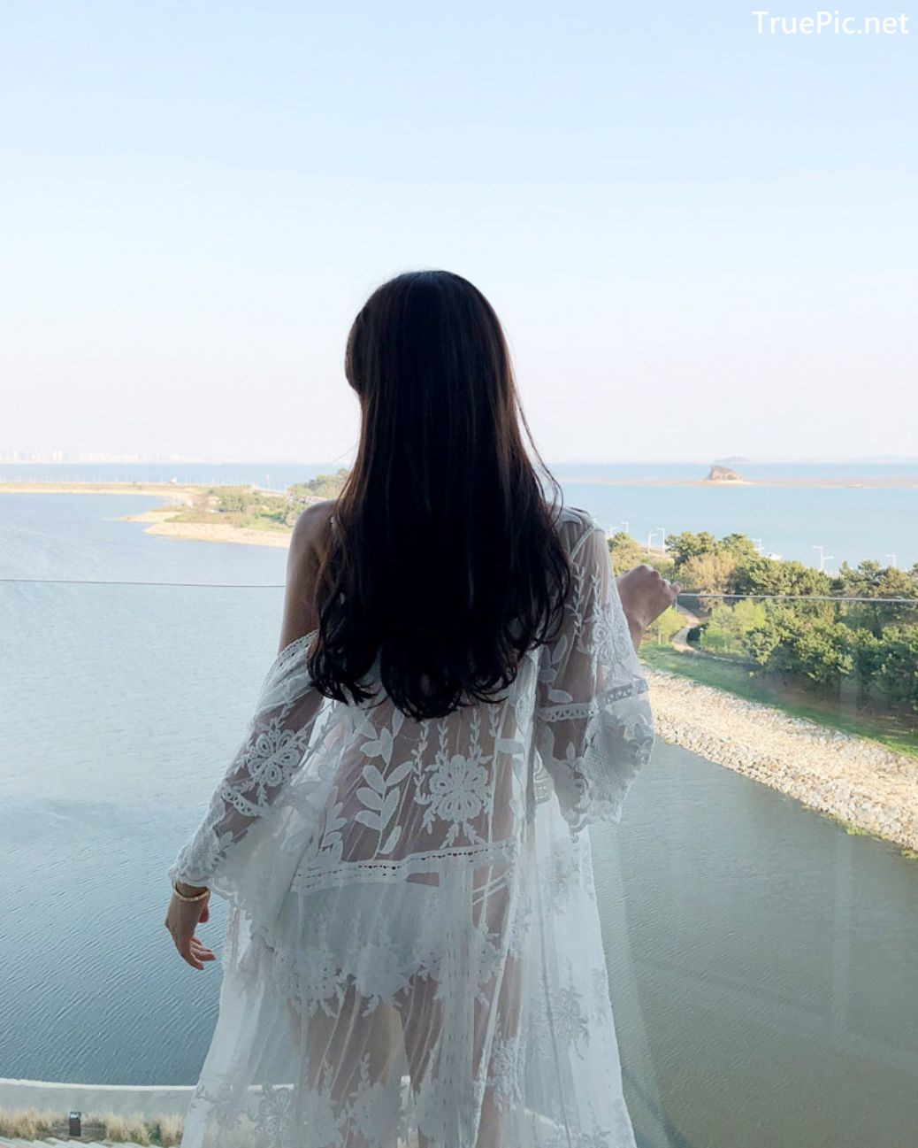 Image Korean Fashion Model - Kang Eun Wook - White Apple Swimsuit - TruePic.net - Picture-6