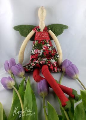 Krysia to uszyła - anielica Inga mała przed odnową