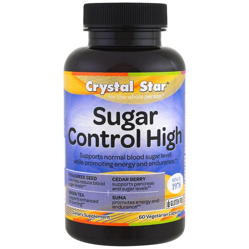 Crystal Star, Контроль уровня сахара, 60 вегетарианских капсул