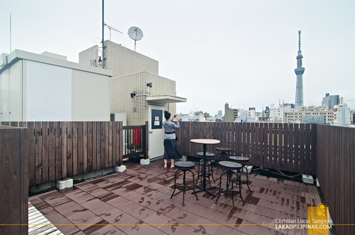 Enaka Asakusa Central Hostel Roof Deck