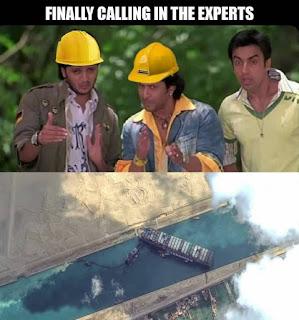 Suez Canal Memes Template