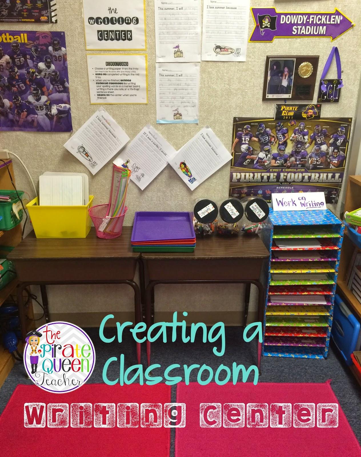 The Pirate Queen Teacher: A Classroom Writing Center