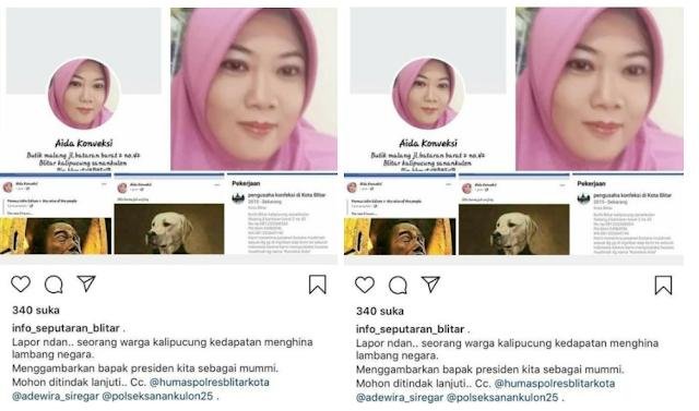 Wanita Penghina Jokowi Mumi Menangis, Minta Tak Ditahan, Ngaku Akun Facebooknya Hilang