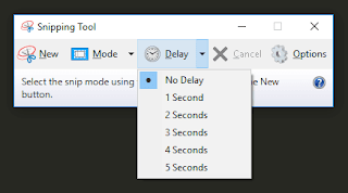 Delay - Snipping Tool