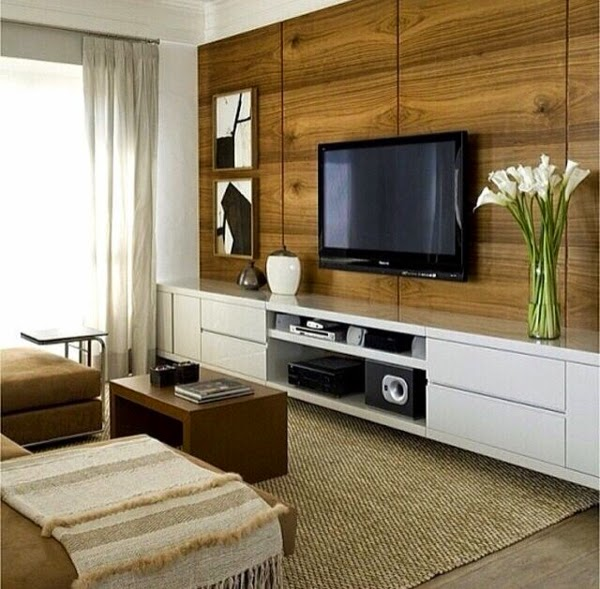 Wooden Wall Units For Living Room: How To Use Modern TV Wall Units In Living Room Wall Decor