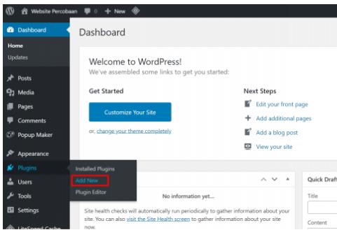 Cara Installasi Plugin CM Popup di Wordpress