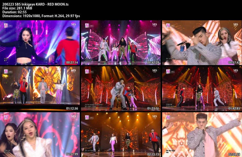 Inkigayo , KARD , RED MOON, 1080p , Kpop, 2020