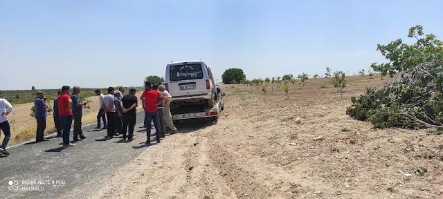 Bozova'da araç incir ağacına çarptı