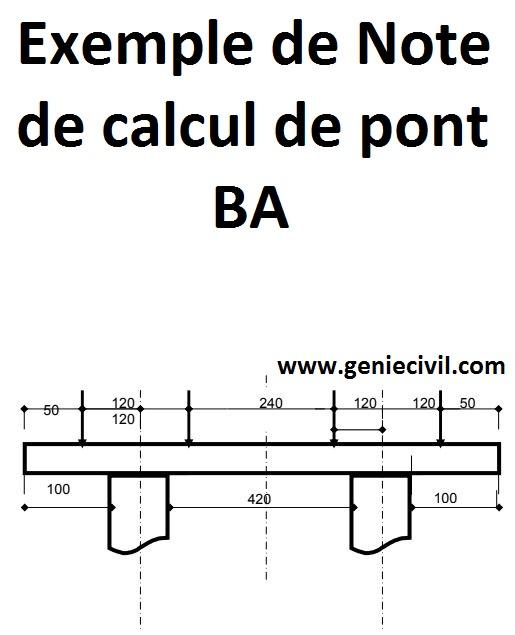 note de calcul de pont b ton arm cours g nie civil. Black Bedroom Furniture Sets. Home Design Ideas
