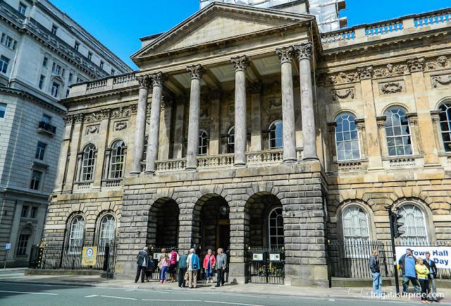 Town Hall, sede da Prefeitura de Liverpool