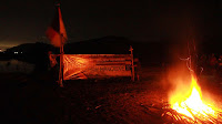 Kemah mangrove - api unggun