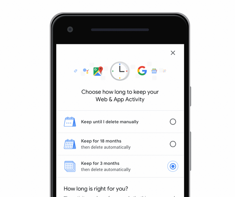 Google location history and activity data auto-delete now available!