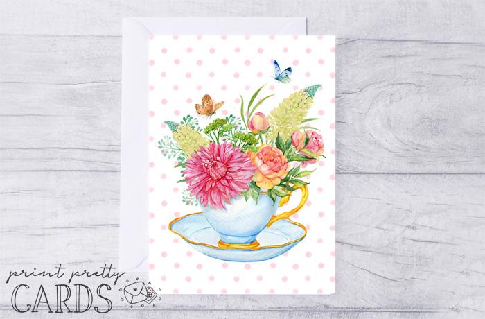 Floral Greeting Card Printables