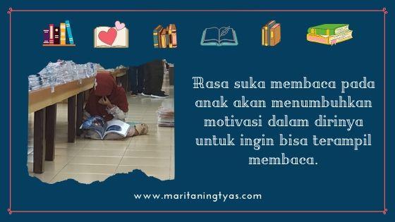 rasa suka membaca melahirkan keinginan bisa membaca