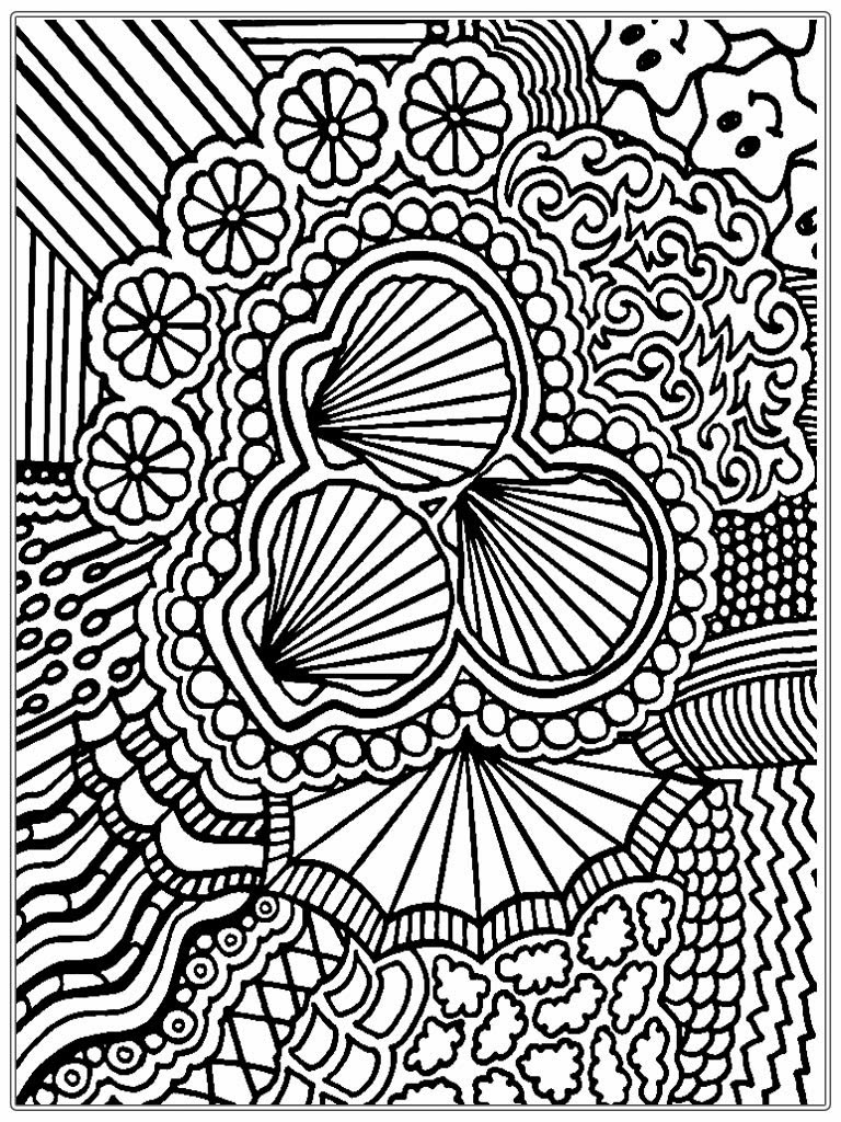 complex christmas coloring pages - photo#44