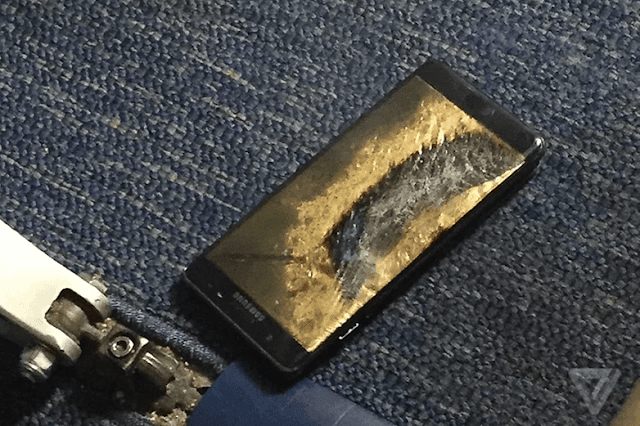 A Galaxy Note 7 in the aircraft probably led to the final Aus of the note 7.