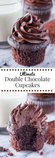 Ultímate Double Chocolate Cupcakes