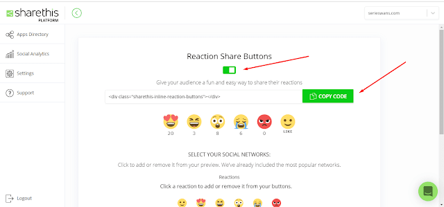 Cara Memasang Widget Reaction Button ShareThis di Blogger