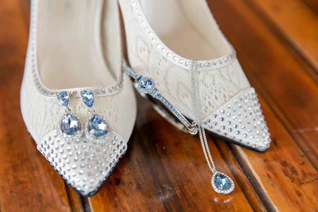 Shenandoah Mill Wedding Jewelry and shoe details by Micah Carling Photography