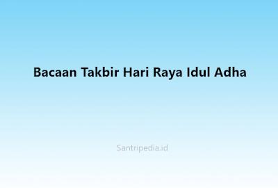 Bacaan Takbir Hari Raya Idul Adha
