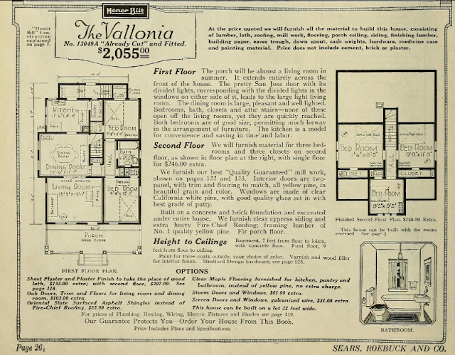 floorplan of Sears Vallonia 1923