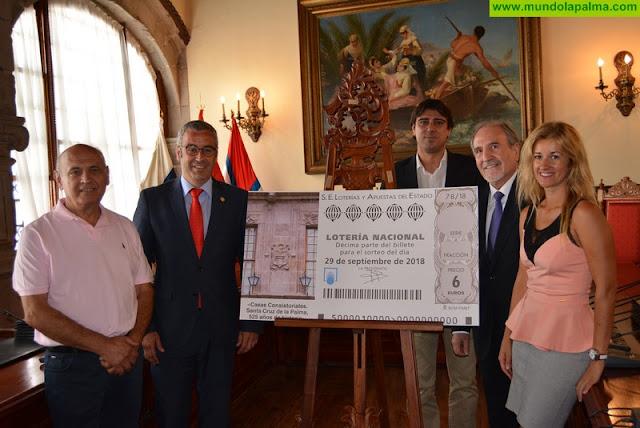 El 525 aniversario de Santa Cruz de La Palma protagoniza el décimo de la Lotería Nacional del 29 de septiembre