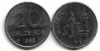 20 Cruzeiros, 1985