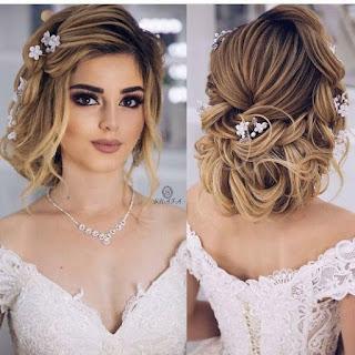 sombras y peinado de novia