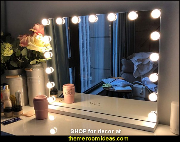 Hollywood Lighted Makeup Mirror hollywood glam mirrors Hollywood Vogue Lighted Make-up Vanity hollywood vanity mirrors