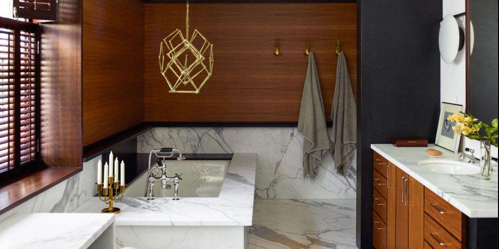 Diseño de cuartos de baños de lujo modernos