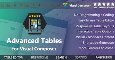 TableNator v1.2.1 Advance Tables For Visual Composer
