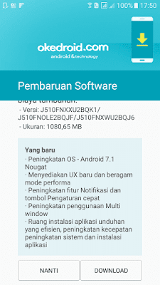 Yang baru di Android Nougat Samsung Galaxy J5 2016