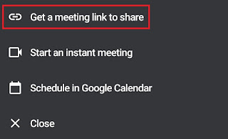 get a meeting link to share