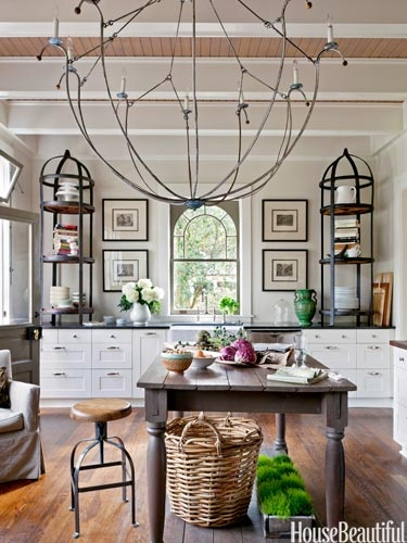 This modern country french style kitchen mixes styles for a stunning old and new look