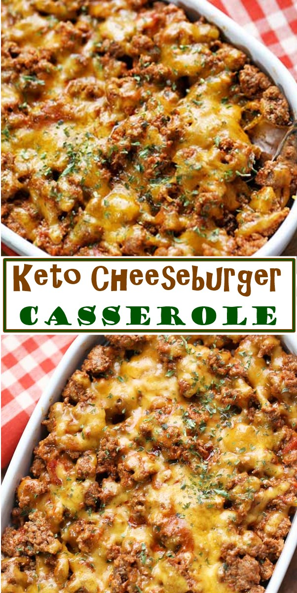 Keto Cheeseburger Casserole #ketorecipes