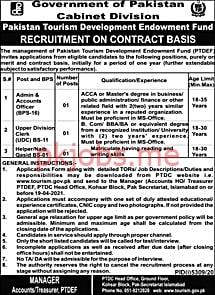 Latest Pakistan Tourism Development Corporation Management Posts 2021