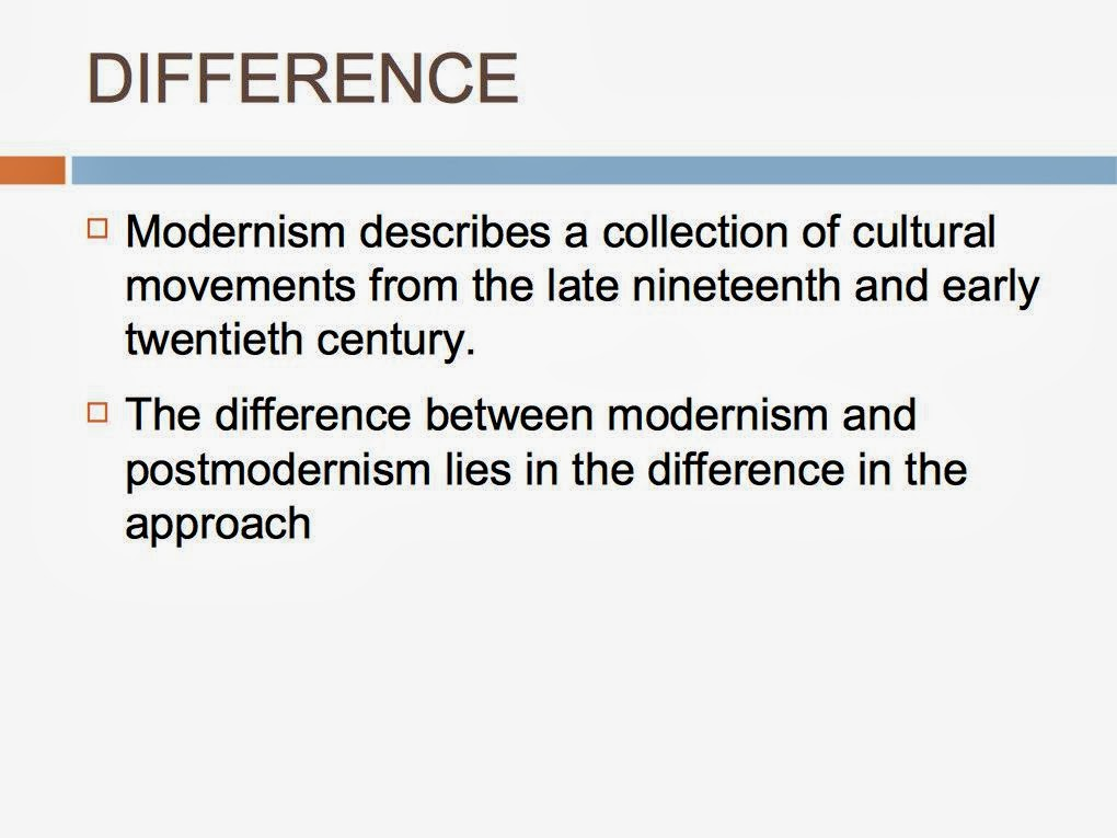 high modernism compared to postmodernism essay