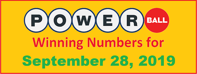 PowerBall Winning Numbers for Saturday, September 28, 2019