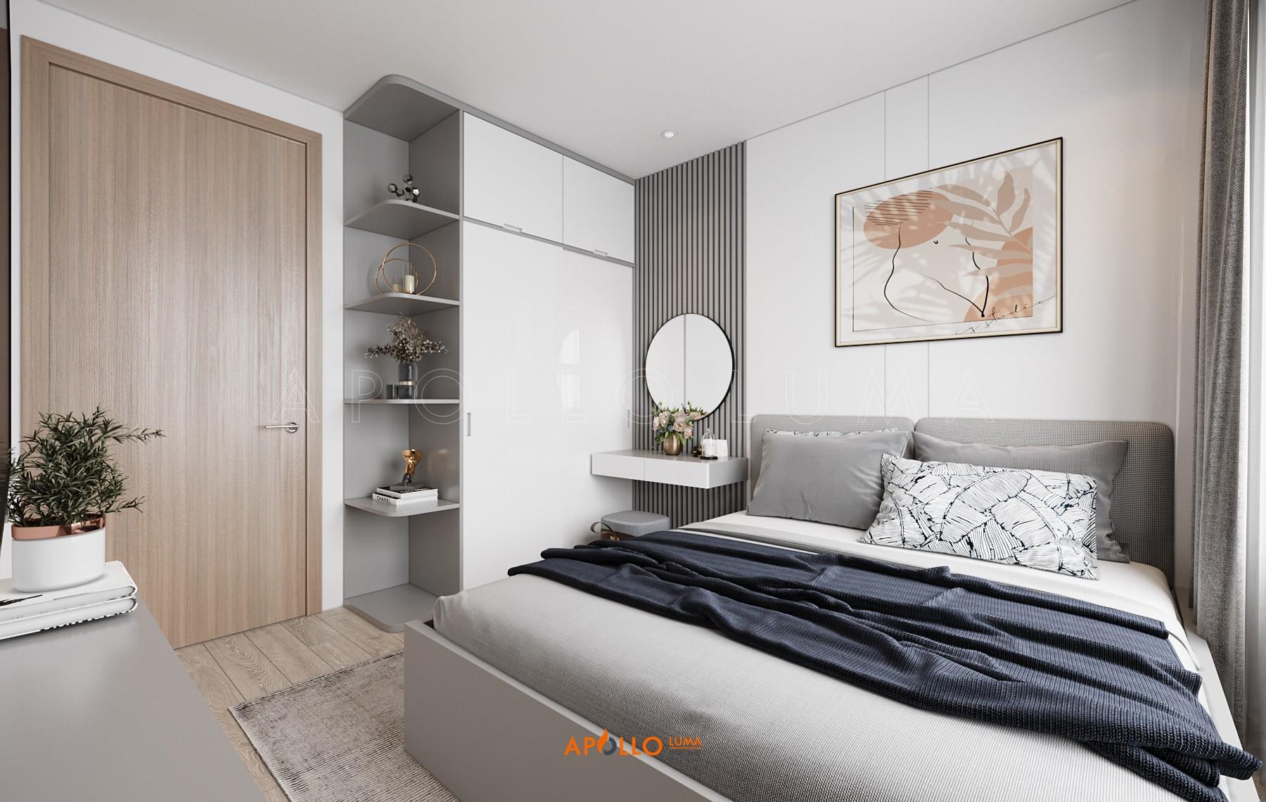 Thiết kế nội thất căn 55m2 Vinhomes Ocean Park