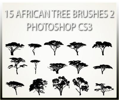 pinceles arboles africanos photoshop